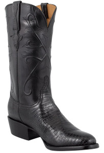 Lucchese Men's Black Lizard Boots