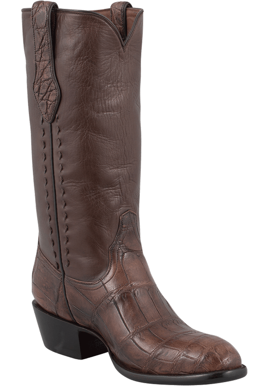 Stallion Men's Antique Brown American Alligator Boots - Hero