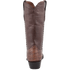 Stallion Men's Antique Brown American Alligator Boots - Back