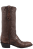 Stallion Men's Antique Brown American Alligator Boots - Side