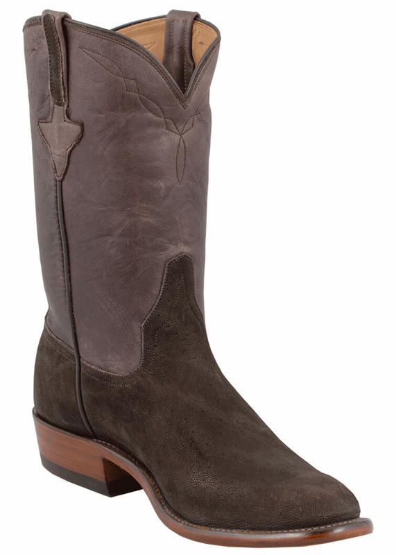 Rios of Mercedes Men's Chocolate Elephant Roper Boots
