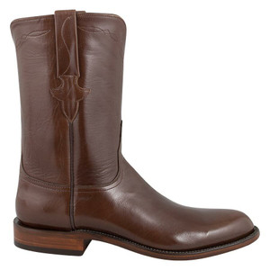 Lucchese Men's Antique Brown Buffalo Roper Boots - Side