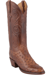 Lucchese Women's Barnwood Full-Quill Ostrich Boots - Hero
