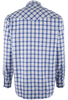 Miller Ranch Blue Plaid Snap Shirt - Back