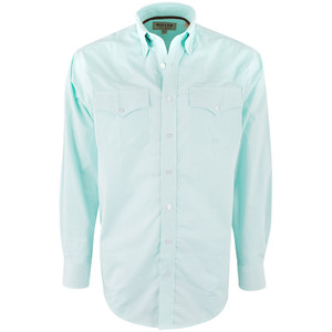 Miller Ranch Mint Gingham Check Shirt - Front