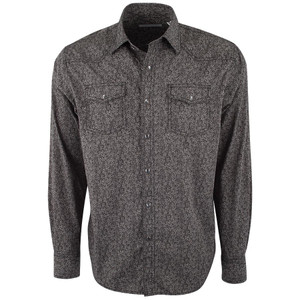 James Campbell Ergo Floral Black Snap Shirt - Front