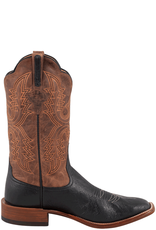 Rios Of Mercedes Men S Black And Tan Smooth Ostrich Boots