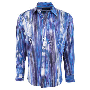 David Smith Australia Navy Woodgrain Watercolor Shirt - Front