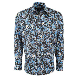 David Smith Australia Denim Paisley Shirt - Front
