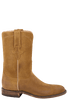 Lucchese Men's Sand Burnished Waxy Leather Roper Boots - Side