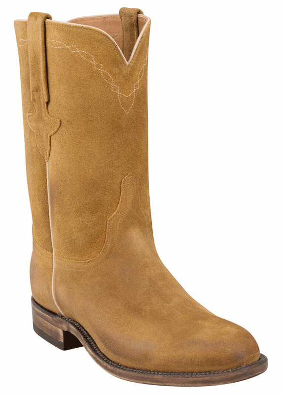 Lucchese Men's Sand Burnished Waxy Leather Roper Boots - Hero