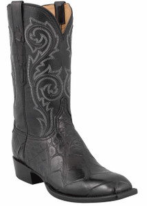 Lucchese Men's Black Big Tile Wild Gator Boots