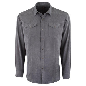 Zagiri Into the Night Microsuede Snap Shirt - Front