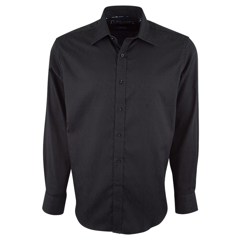 David Smith Australia Black Jacquard Shirt - Front