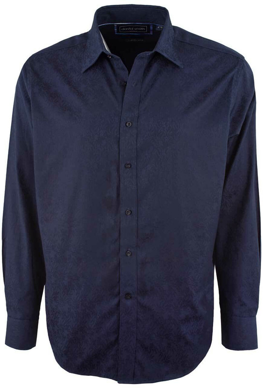 David Smith Australia Ink Jacquard Shirt - Front