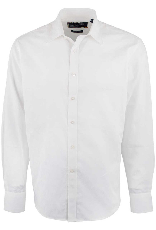 David Smith Australia White Jacquard Shirt - White