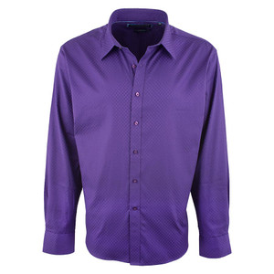 David Smith Australia Solid Purple Cube Shirt - Front