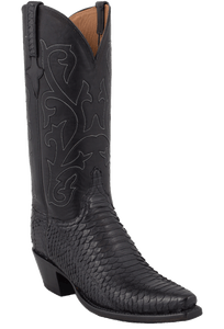 Lucchese Women's Black Python Boots - Hero