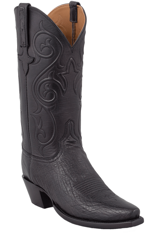 Lucchese Women's Black Smooth Ostrich Boots - Hero