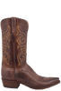 Lucchese Men's Pecan Sueded Python Boots - Side