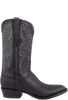 Lucchese Men's Black Shark Boots - Side