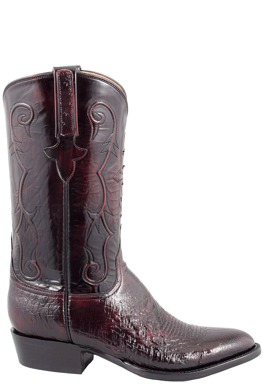 Lucchese Men S Black Cherry Smooth Ostrich Boots Pinto Ranch