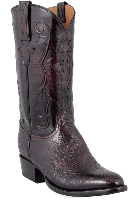Lucchese Men's Black Cherry Smooth Ostrich Boots - Hero