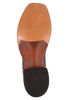 Rios of Mercedes Men's Cigar Pirarucu Boots with Milan Toe - Bottom