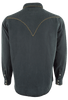 Ryan Michael Silk Linen Blend Whipstitch Shirt - Black - Back
