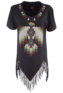 Double D Ranch Lone Flying Eagle Top - Front