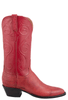Lucchese Women's Red Smooth Ostrich Boots- Side