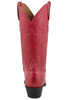 Lucchese Women's Red Smooth Ostrich Boots- Back