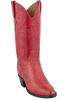 Lucchese Women's Red Smooth Ostrich Boots - Hero