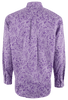 Cinch Purple Paisley Print Shirt - Back