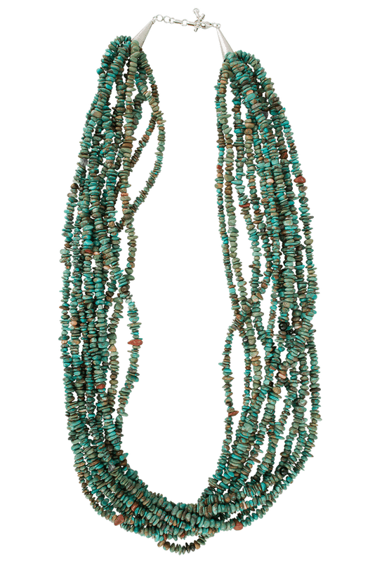 Turquoise Moon Multi-Strand Turquoise Chip Necklace