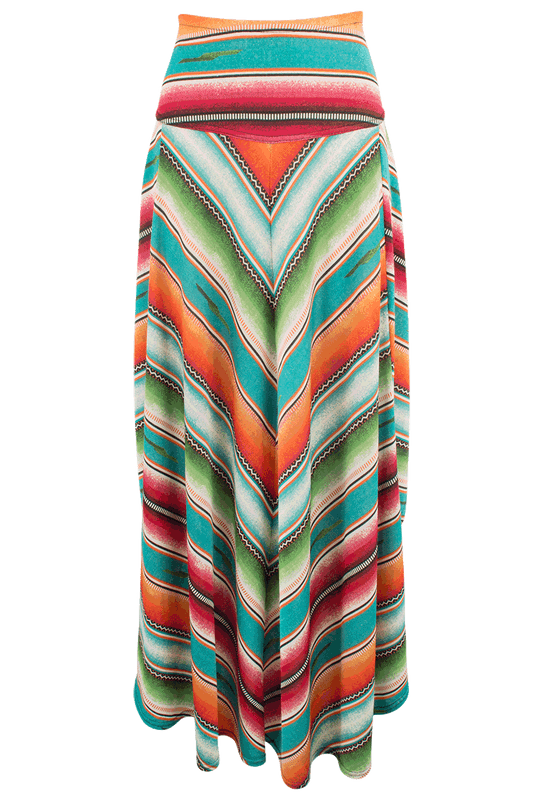 Double D Ranch Pachamama Serape Long Skirt - Front