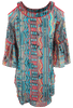 Vintage Collection Santa Fe Nights Cold Shoulder Tunic - Back