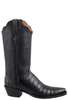 Lucchese Women's Black Ultra Caiman Crocodile Boots with Snip Toe - Side
