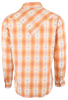 Ryan Michael Ombre Dobby Plaid Snap Shirt - Tangerine - Back