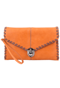 Sydney Love Laced Clutch - Melon - Front
