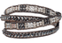 WTW Designs Silver and Black Wrap Bracelet - Front