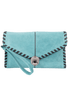 Sydney Love Laced Clutch - Turquoise - Front
