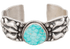 Turquoise Moon Small Kingman Turquoise Cuff - Front