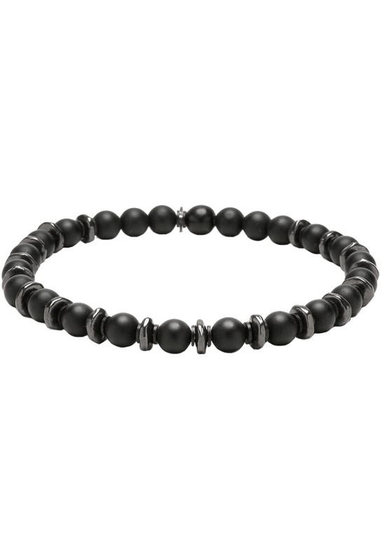 Kenton Michael Stone and Gunmetal Sequence Bracelet - Black Onyx