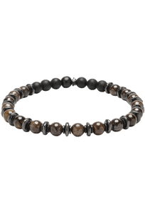 Kenton Michael Stone and Gunmetal Sequence Bracelet - Bronzite
