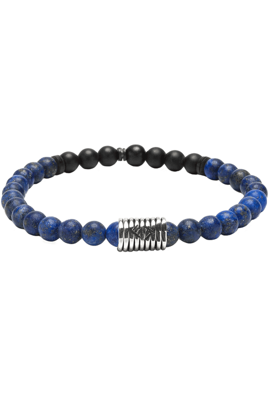 Kenton Michael Stone and Sterling Coil Bracelet - Blue Lapis