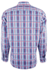 Bugatchi Blue and Pink Linear Plaid Shirt - Back