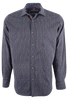 Bugatchi Midnight Multi-Stripe Shirt - Front