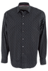 Bugatchi Black Thorn Shirt - Front