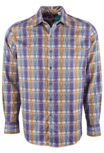 Robert Graham Nasir Purple Shirt - Front